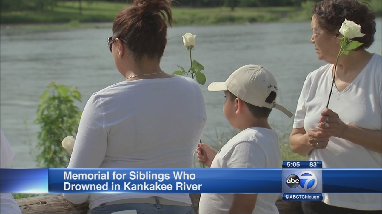 Memorial for drowned siblings held
