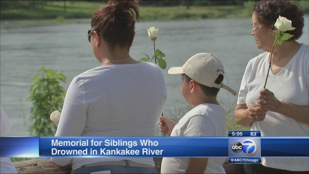 Memorial for drowned siblings held