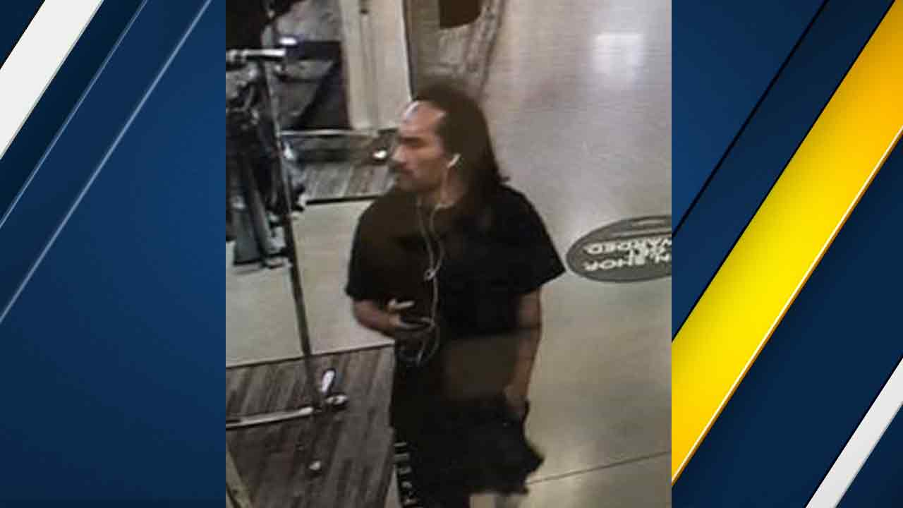 A person on surveillance video seen entering a Nordstrom Rack before a fire was located in the bathrooom on Wednesday, June 1, 2016.