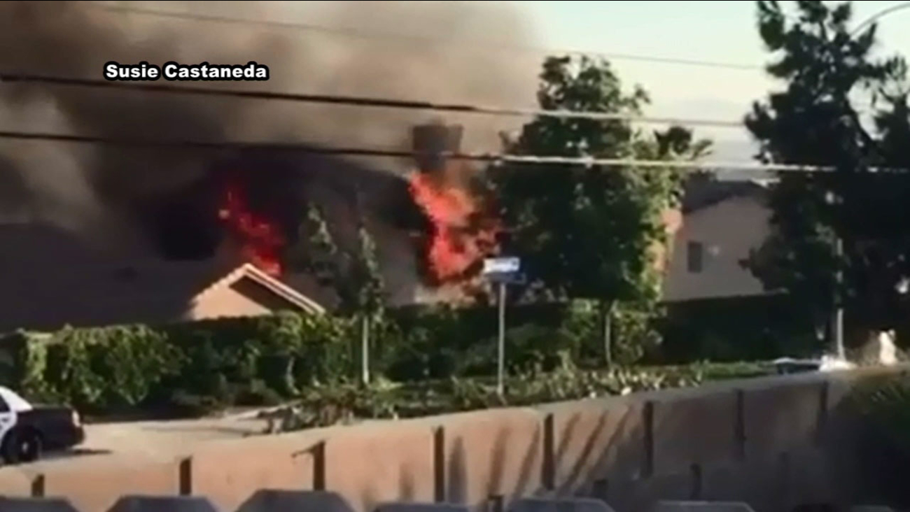 Seven people were displaced after a house in Moreno Valley.