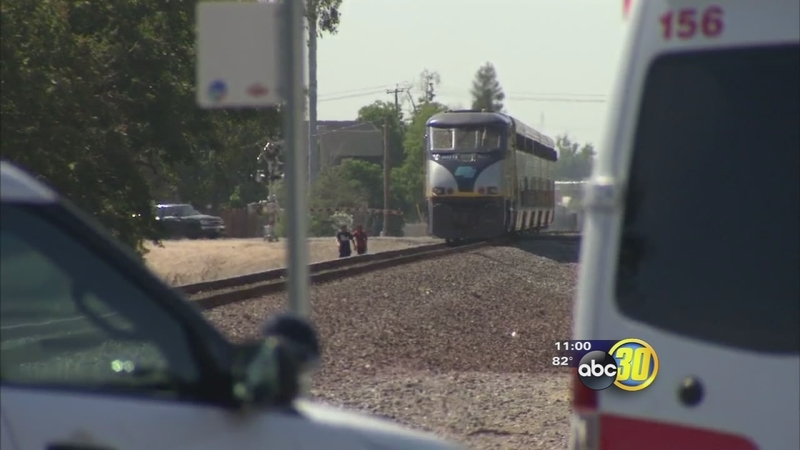 Man hit by a train in Central Fresno
