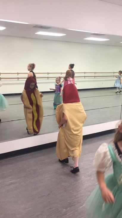 <div class='meta'><div class='origin-logo' data-origin='none'></div><span class='caption-text' data-credit='Grayson LaMontagne'>Ainsley didn't want to dress up as a princess so she came as a hot dog</span></div>