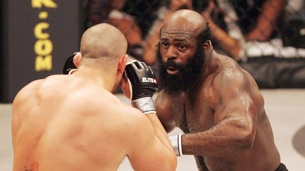 MMA fighter Kimbo Slice, pictured in a 2008 fight, died Monday, June 6, 2016.