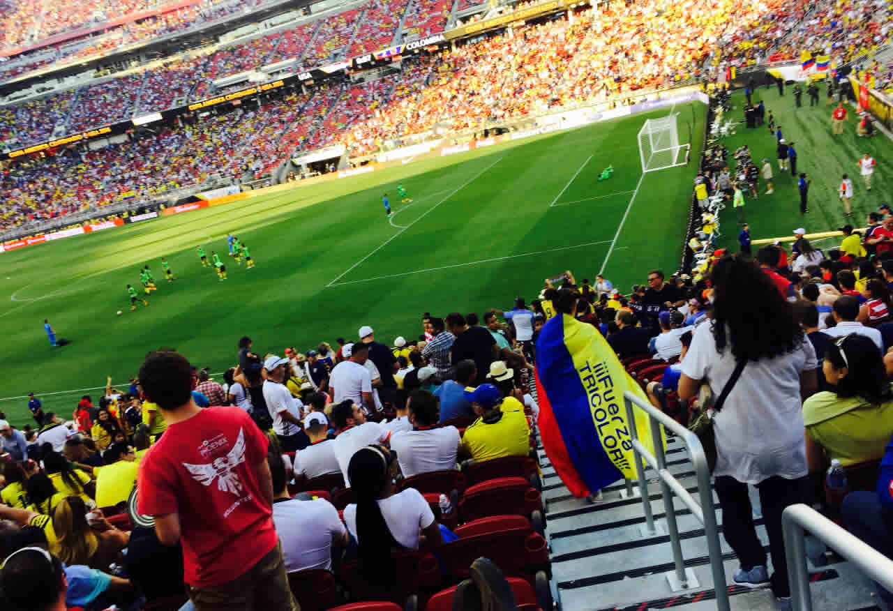 "<div class=""meta image-caption""><div class=""origin-logo origin-image none""><span>none</span></div><span class=""caption-text"">U.S.A. vs. Colombia at Levi's Stadium on Friday, June 3, 2016. We want to see your fan pride, so tag your photos #ABC7Now and we may feature them here or on TV. (KGO-TV)</span></div>"