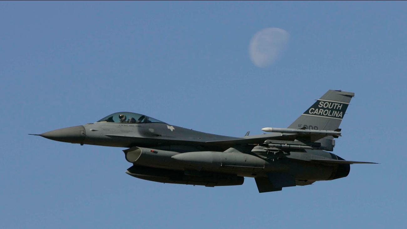 File photo of a South Carolina Air National Guard F-16