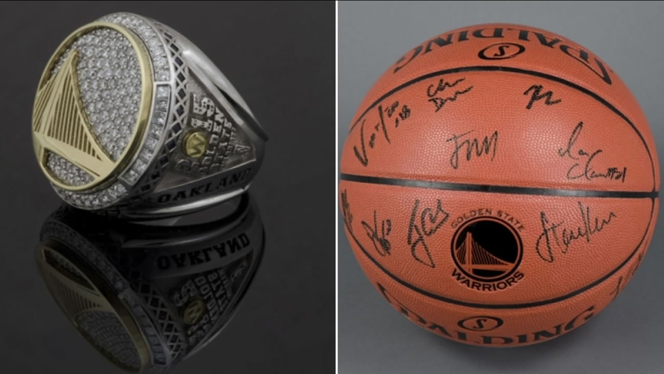 A championship ring and autographed basketball are two items featured in the Oakland Museum of California's upcoming Warriors exhibit.