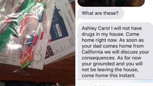 A daughter's response when her mother thinks she found drugs is going viral.