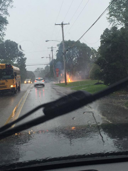 "<div class=""meta image-caption""><div class=""origin-logo origin-image wpvi""><span>WPVI</span></div><span class=""caption-text"">Action News viewer Kevin Varady sent in this photo of downed power lines in Havertown, Pa.</span></div>"