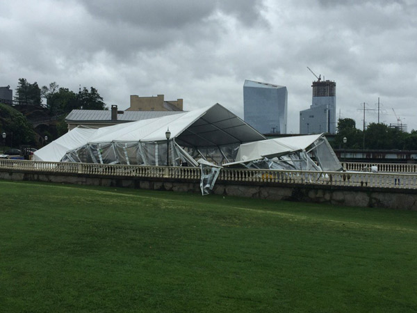 "<div class=""meta image-caption""><div class=""origin-logo origin-image none""><span>none</span></div><span class=""caption-text"">Action News photographer Richard Lacovara sent in a photo of a large tent at Water Works in Center City taken out by the storm.</span></div>"