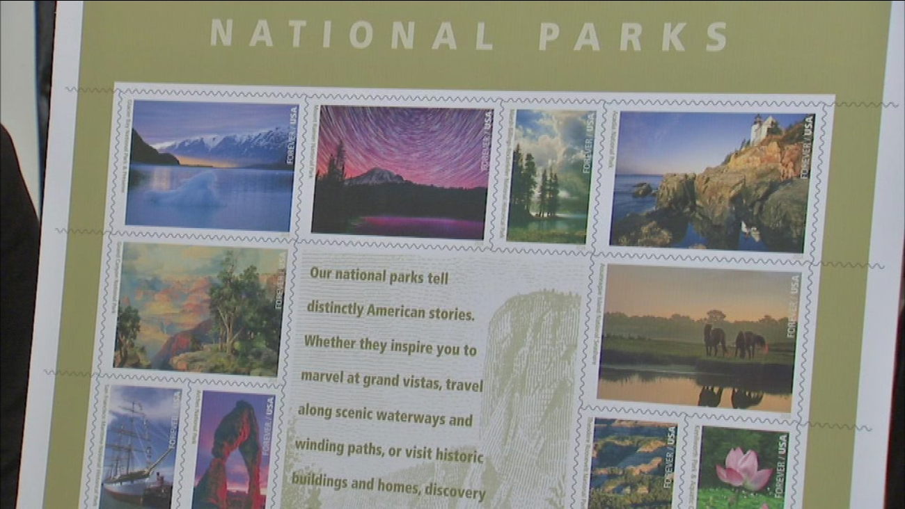 The Chicago Post Office helped unveil a sheet of stamps recognizing the National Park Service's 100th anniversary.