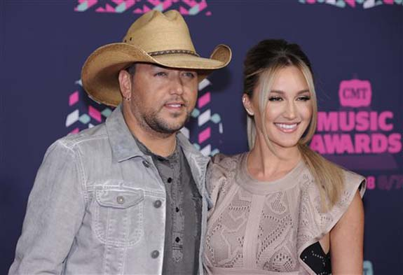 "<div class=""meta image-caption""><div class=""origin-logo origin-image none""><span>none</span></div><span class=""caption-text"">Jason Aldean, left, and Brittany Kerr arrive at the CMT Music Awards at the Bridgestone Arena on Wednesday, June 8, 2016, in Nashville, Tenn. (Sanford Myers/Invision/AP)</span></div>"