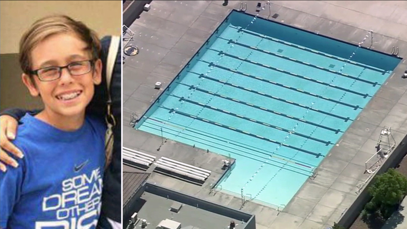 Alex Pierce, 13, was pulled from a pool during a party at Vista Murrieta High School on Friday, June 3, 2016. He later died on Thursday, July 7, 2016.