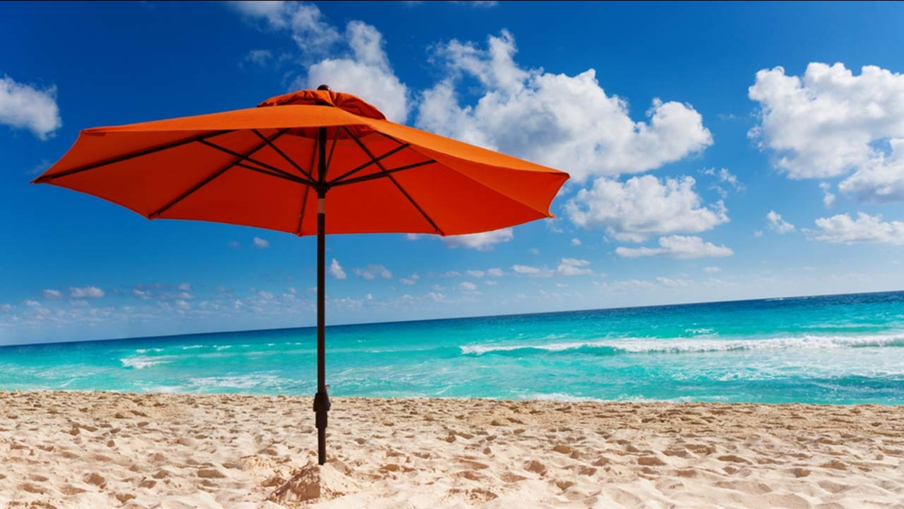 Stock image of a beach umbrella