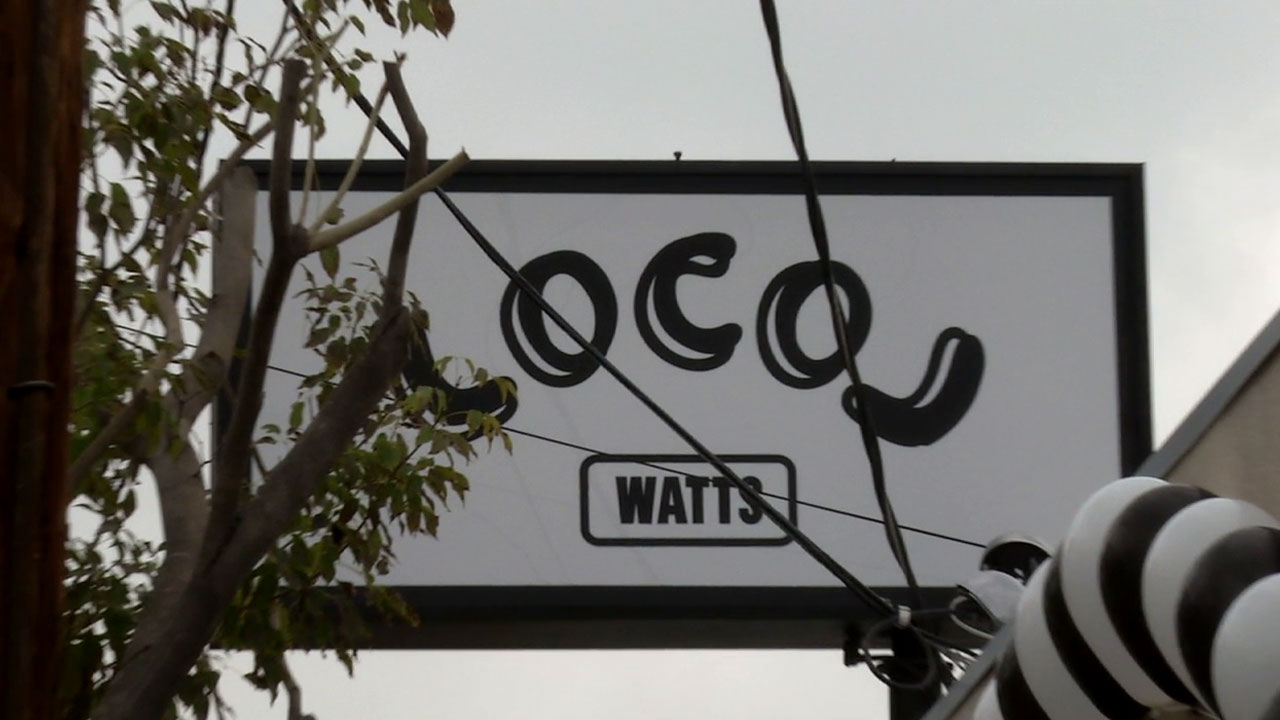 The sign for the Watts restaurant LocoL is shown in an undated photo.