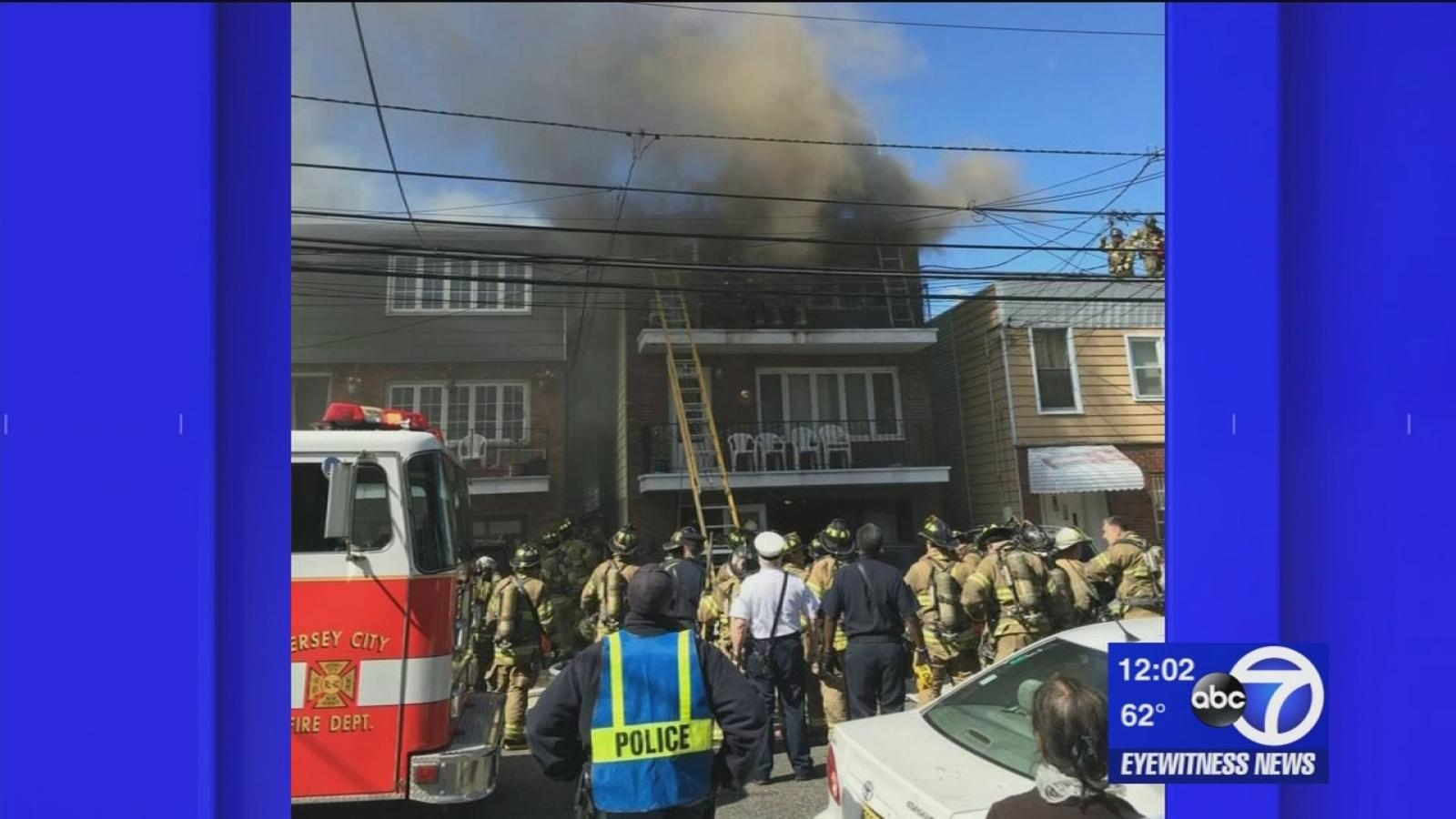 2 rescued in Jersey City fire