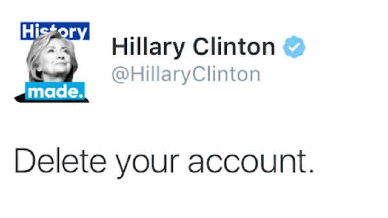 Hillary Clinton responds to Donald Trump's Twitter attack with tweet that  goes viral - ABC7 New York