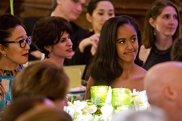 <div class='meta'><div class='origin-logo' data-origin='none'></div><span class='caption-text' data-credit='AP'>Malia Obama listens as her father, President Barack Obama, receives a toast from Canadian Prime Minister during a State Dinner March 10, 2016. (AP Photo/Jacquelyn Martin)</span></div>