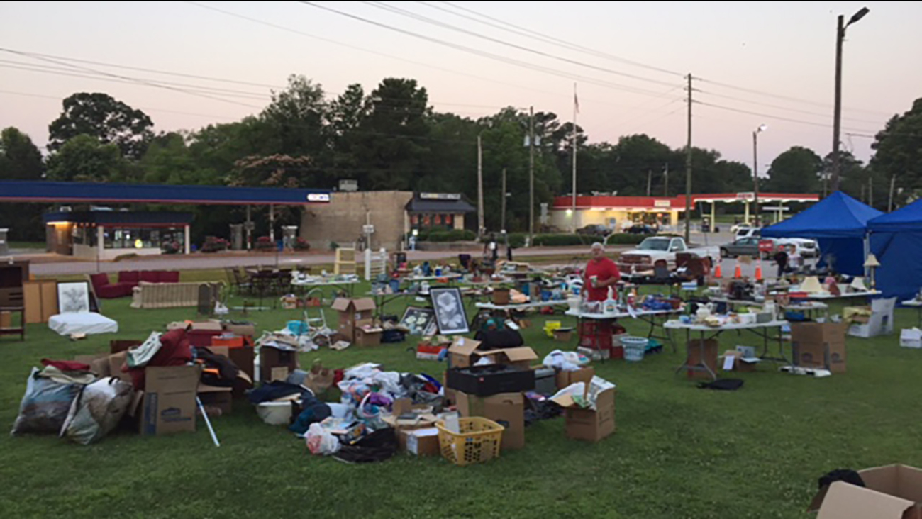 Apex Police Department yard sale