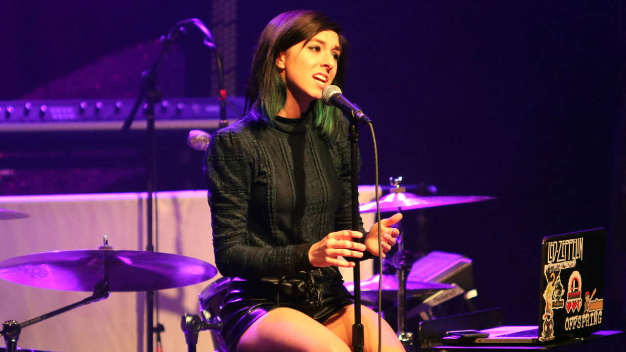 In this March 2, 2016 file photo, Christina Grimmie performs as the opener for Rachel Platten at Center Stage Theater, in Atlanta.