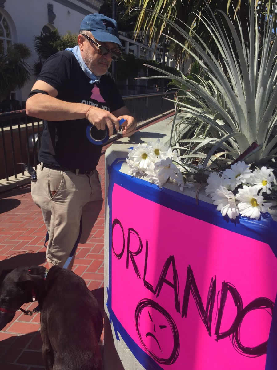 <div class='meta'><div class='origin-logo' data-origin='none'></div><span class='caption-text' data-credit='KGO-TV/Cornell Barnard'>A memorial is growing in San Francisco's Castro District following the mass shooting at a gay nightclub in Orlando, Fla., on Sunday, June 12, 2016.</span></div>