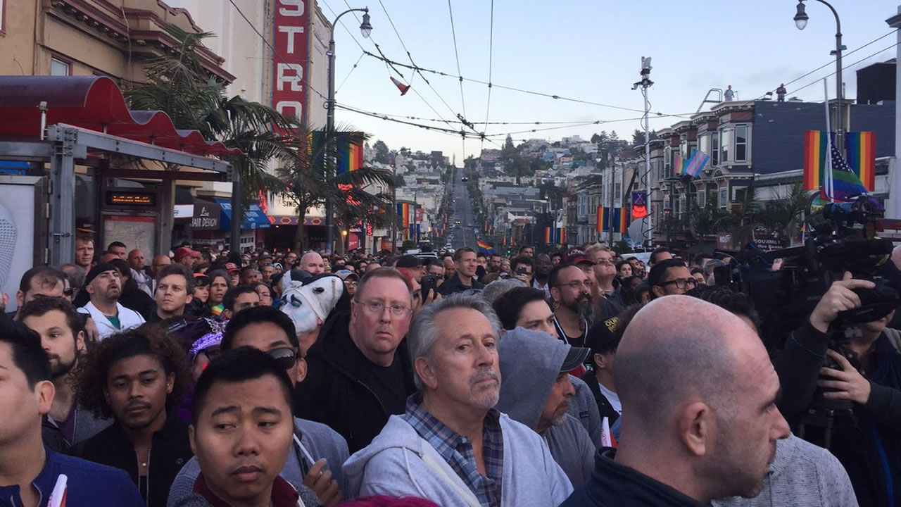 <div class='meta'><div class='origin-logo' data-origin='none'></div><span class='caption-text' data-credit='KGO-TV/Sergio Quintana'>A memorial is growing in San Francisco's Castro District following the mass shooting at a gay nightclub in Orlando, Fla., on Sunday, June 12, 2016.</span></div>
