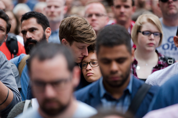 """<div class=""""meta image-caption""""><div class=""""origin-logo origin-image ap""""><span>AP</span></div><span class=""""caption-text"""">People gather for a vigil in memory of the victims of the Orlando, Fla., worst mass shooting in modern U.S. history, Monday, June 13, 2016, at City Hall in Philadelphia. (AP Photo/Matt Rourke)</span></div>"""