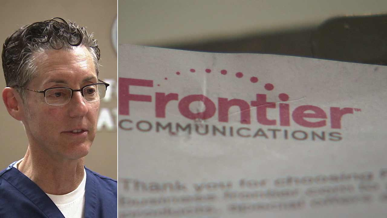 Dr. Brad Katzman speaks to Eyewitness News about a $599,000 bill he says he received from Frontier Communications.