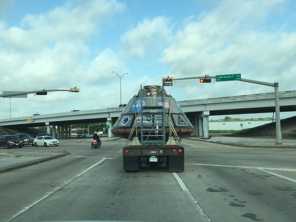 """<div class=""""meta image-caption""""><div class=""""origin-logo origin-image none""""><span>none</span></div><span class=""""caption-text"""">Approaching Beltway 8 in Houston. Keep eye out for us and post your sightings to #SpotOrion</span></div>"""