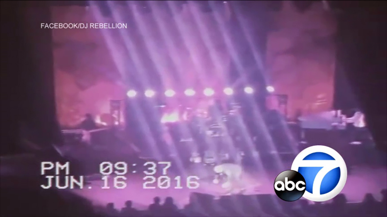 Video captured the moment famed rocker Meat Loaf collapsed on stage while performing at Edmonton's Northern Alberta Jubilee Auditorium on Thursday, June 16, 2016.