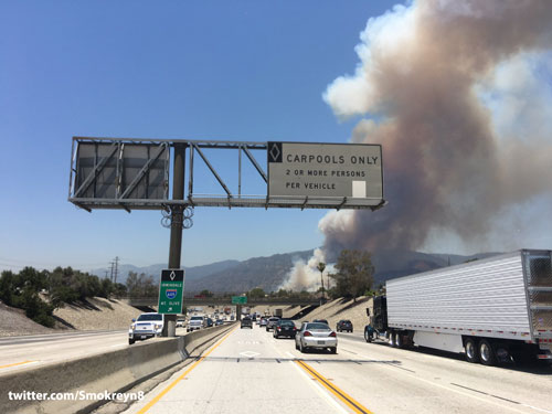 "<div class=""meta image-caption""><div class=""origin-logo origin-image kabc""><span>KABC</span></div><span class=""caption-text"">Two brush fires burn in the Angeles National Forest above Azusa and Duarte on Monday, June 20, 2016.</span></div>"