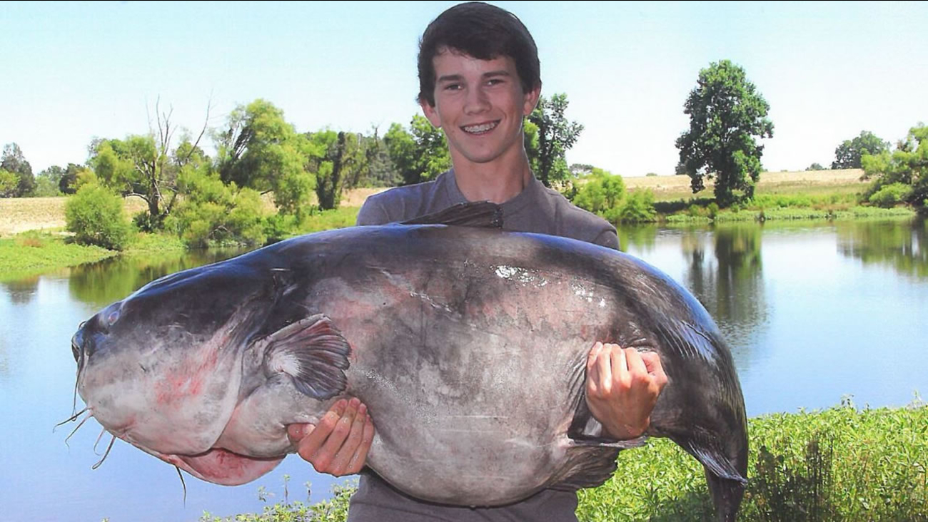 Landon Evans and his big ole fish (image courtesy NC Wildlife Resources Commission)