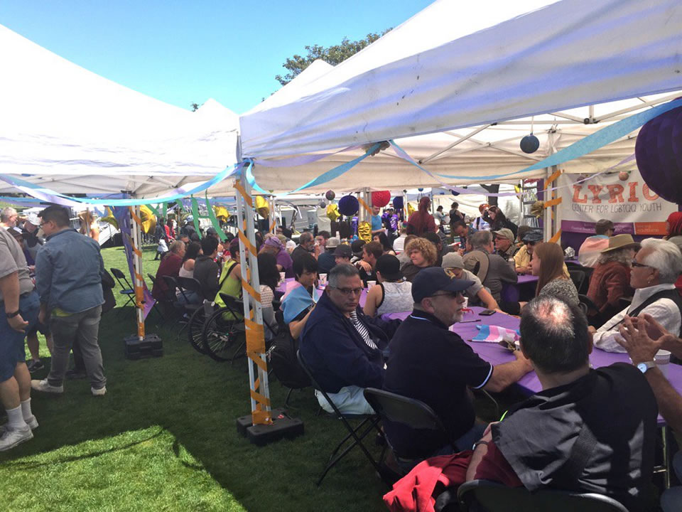 <div class='meta'><div class='origin-logo' data-origin='none'></div><span class='caption-text' data-credit='Lyanne Melendez/KGO-TV'>A large crowd is seen at the LGBT Youth and Elder Brunch at Dolores Park in San Francisco on Friday, June 24, 2016.</span></div>