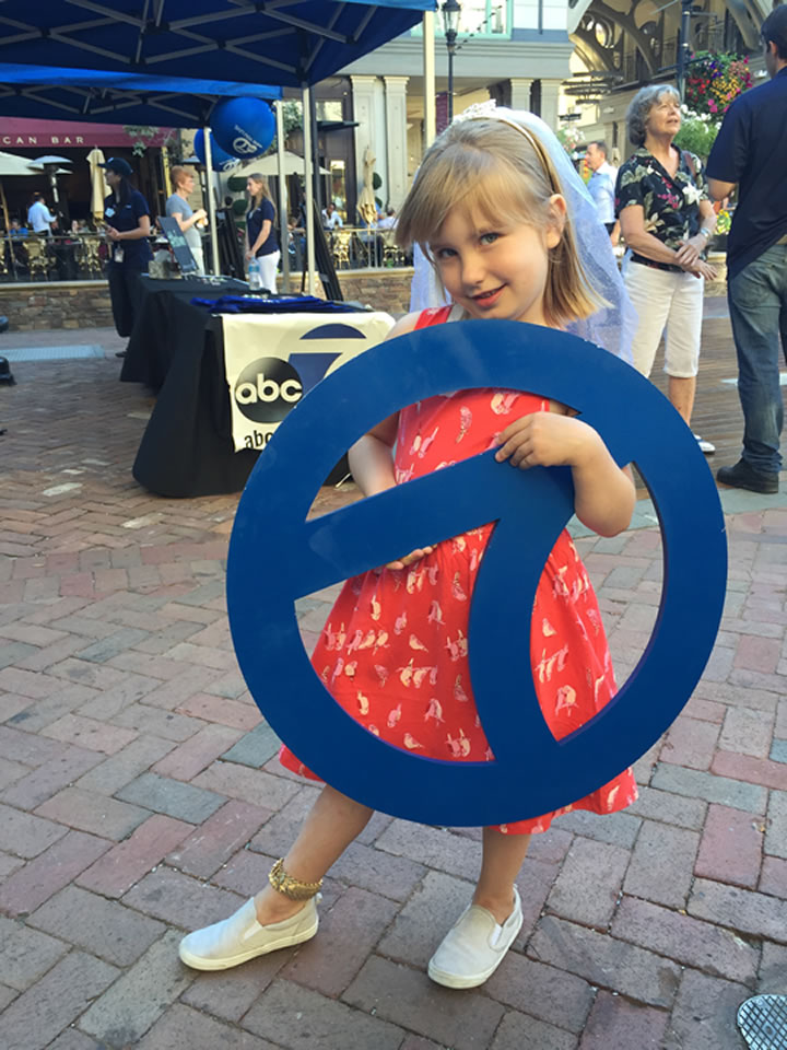 """<div class=""""meta image-caption""""><div class=""""origin-logo origin-image none""""><span>none</span></div><span class=""""caption-text"""">Chloe Chambers, 5, holds an ABC7 sign at a 7 On Your Side event at Santana Row in San Jose, Calif. on Friday, June 24, 2016. (KGO-TV)</span></div>"""