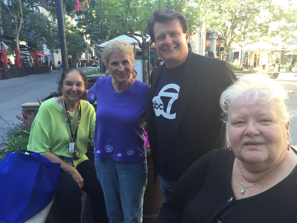 """<div class=""""meta image-caption""""><div class=""""origin-logo origin-image none""""><span>none</span></div><span class=""""caption-text"""">From left to right: Rowena, Barbara, Michael Finney, and Darlene at a 7 On Your Side event at Santana Row in San Jose, Calif. on Friday, June 24, 2016. (KGO-TV)</span></div>"""