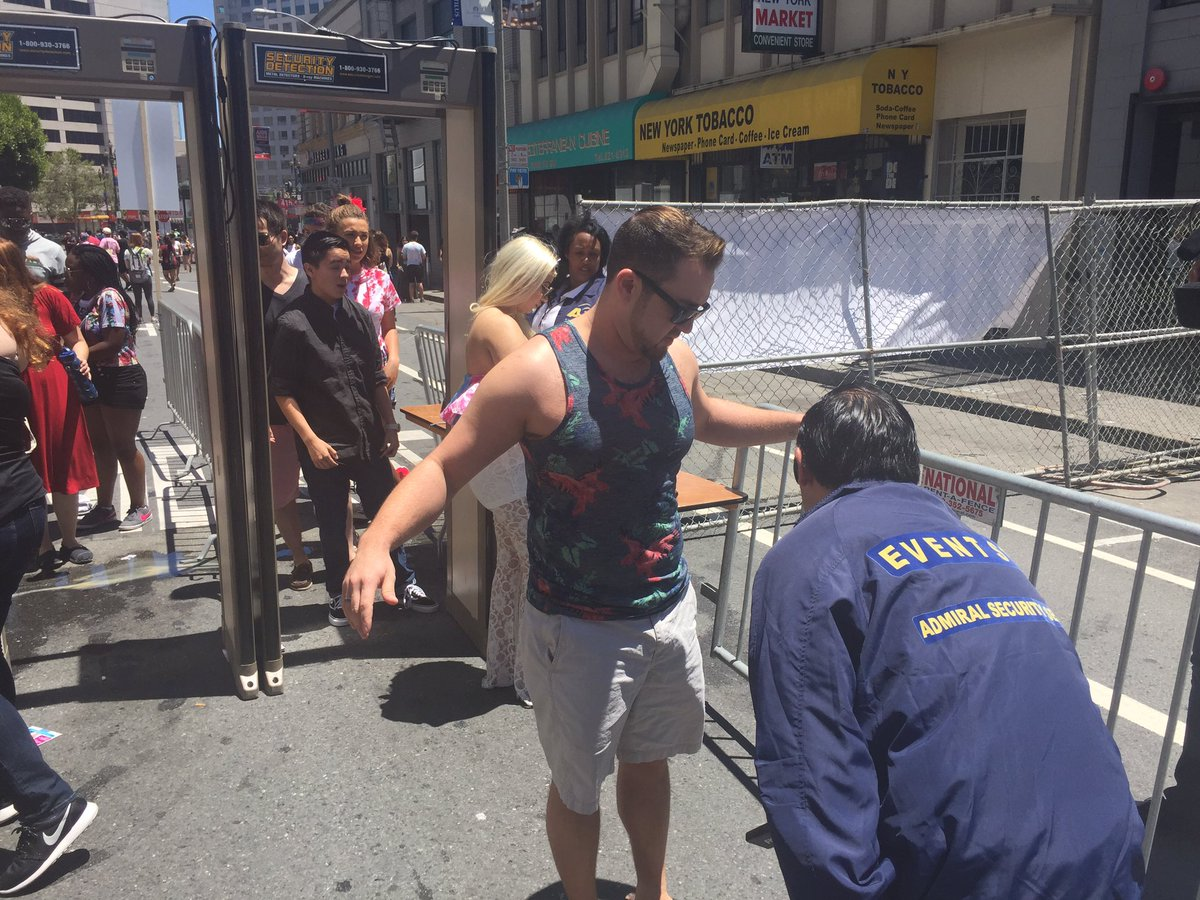 "<div class=""meta image-caption""><div class=""origin-logo origin-image none""><span>none</span></div><span class=""caption-text"">This image shows participants clearing a security checkpoint at San Francisco Pride on Saturday, June 25, 2016. (KGO-TV)</span></div>"