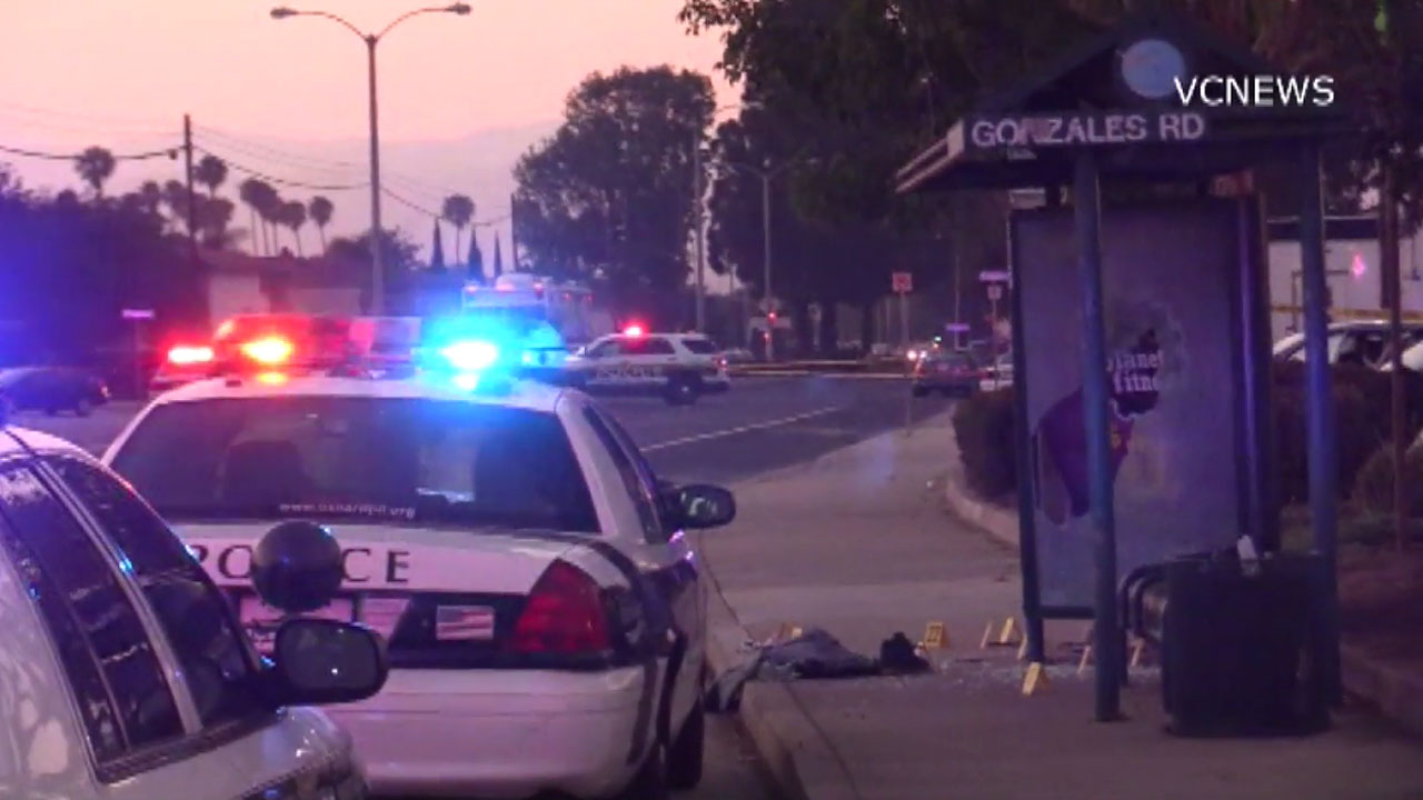 Authorities blocked off a portion of North Ventura Road in Oxnard after a man was shot to death in the area on Saturday, June 25, 2016.