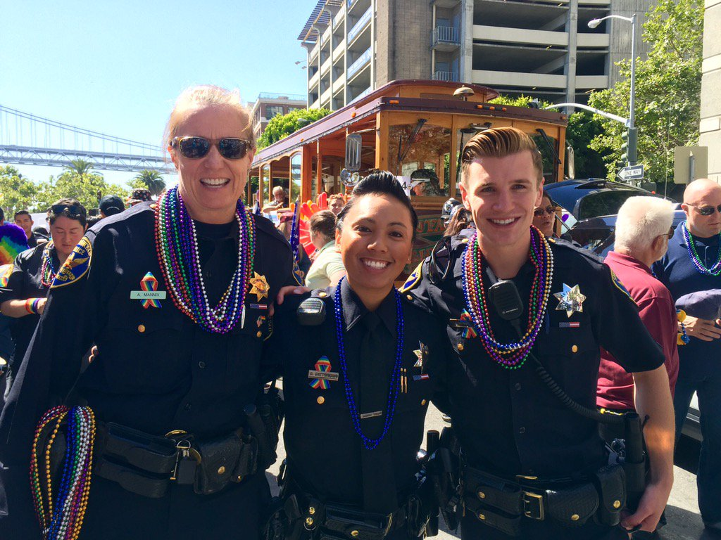 <div class='meta'><div class='origin-logo' data-origin='none'></div><span class='caption-text' data-credit='Photo submitted to KGO-TV by @OfficerGrace/Twitter'>San Francisco Pride Parade on Sunday, June 25, 2016.</span></div>