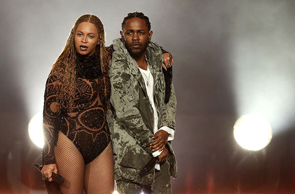 """<div class=""""meta image-caption""""><div class=""""origin-logo origin-image none""""><span>none</span></div><span class=""""caption-text"""">Beyonce and Kendrick Lamar perform at the BET Awards on Sunday in Los Angeles. (Matt Sayles/Invision/AP)</span></div>"""