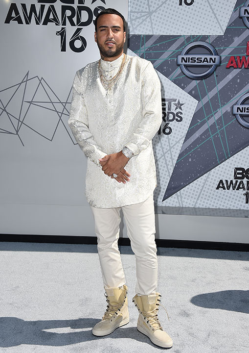 """<div class=""""meta image-caption""""><div class=""""origin-logo origin-image none""""><span>none</span></div><span class=""""caption-text"""">French Montana arrives at the BET Awards on Sunday in Los Angeles. (Jordan Strauss/Invision/AP)</span></div>"""