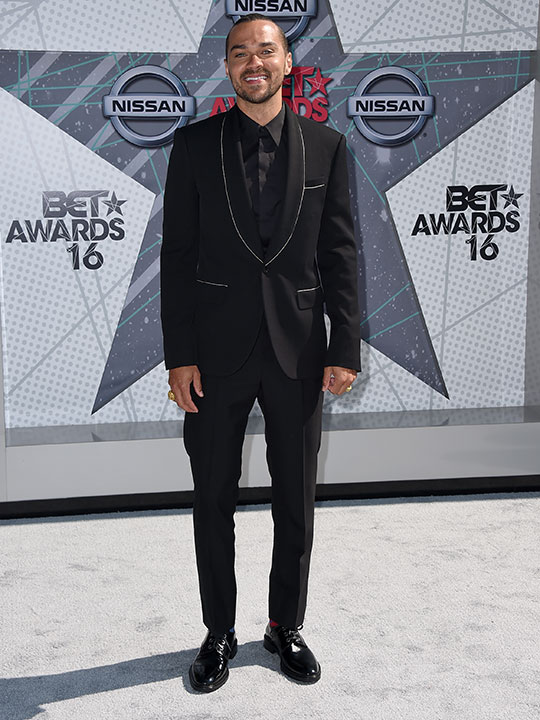"""<div class=""""meta image-caption""""><div class=""""origin-logo origin-image none""""><span>none</span></div><span class=""""caption-text"""">Jesse Williams arrives at the BET Awards on Sunday in Los Angeles. (Jordan Strauss/Invision/AP)</span></div>"""