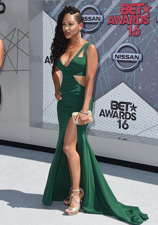 """<div class=""""meta image-caption""""><div class=""""origin-logo origin-image none""""><span>none</span></div><span class=""""caption-text"""">Meagan Good arrives at the BET Awards on Sunday in Los Angeles. (Jordan Strauss/Invision/AP)</span></div>"""