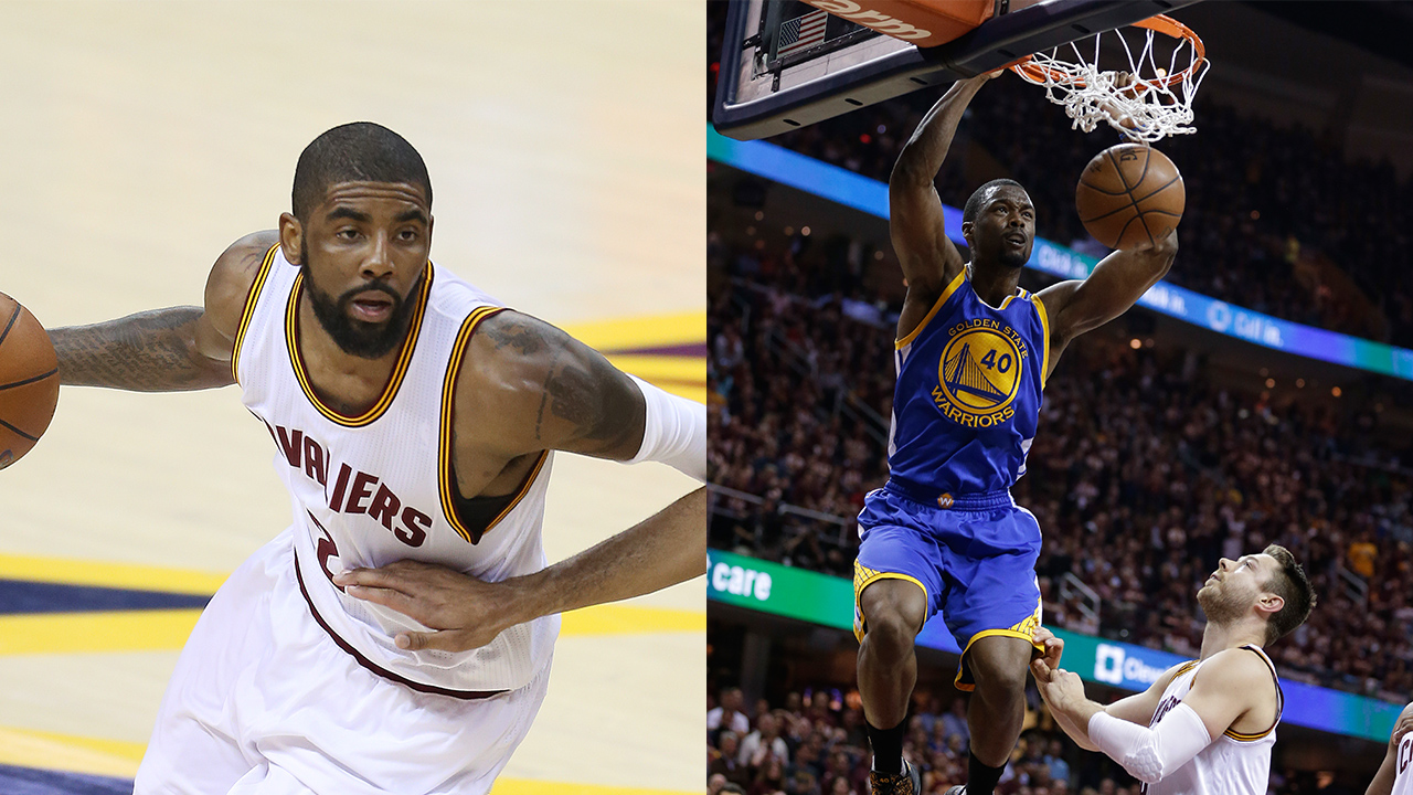 Kyrie Irving (left) and Harrison Barnes (right)