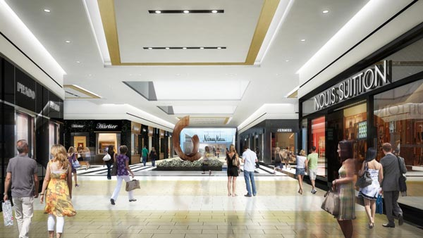 tour of new king of prussia mall corridor