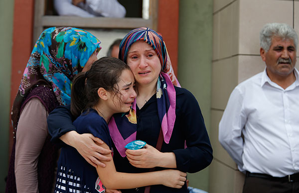 <div class='meta'><div class='origin-logo' data-origin='none'></div><span class='caption-text' data-credit='Emrah Gurel/AP Photo'>Family members of victims cry outside the Forensic Medical Center in Istanbul, Wednesday, June 29, 2016.</span></div>