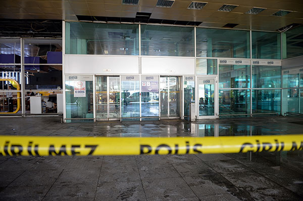 <div class='meta'><div class='origin-logo' data-origin='none'></div><span class='caption-text' data-credit='AP Photo'>A sealed off entrance of Istanbul's Ataturk airport, Wednesday, June 29, 2016.</span></div>