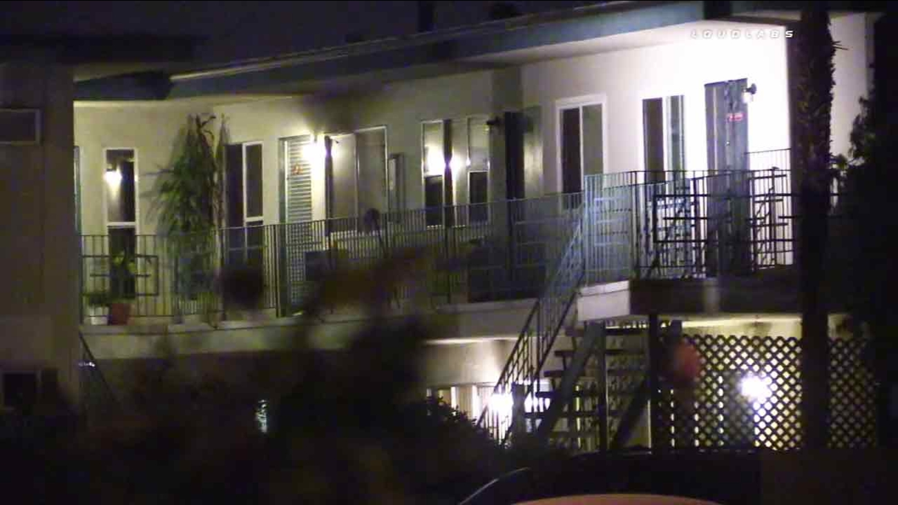 A man who allegedly made threats against his family members was barricaded inside this Montebello apartment on Wednesday, June 29, 2016.