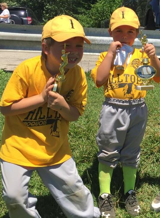 <div class='meta'><div class='origin-logo' data-origin='none'></div><span class='caption-text' data-credit=''>Havertown Hilltop League - tee-ball champs Frankie and Johnny</span></div>