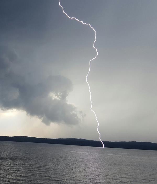 "<div class=""meta image-caption""><div class=""origin-logo origin-image wtvd""><span>WTVD</span></div><span class=""caption-text"">Amazing shot of lightning at Jordan Lake. (Kendra Arrowood/ABC11 Eyewitness)</span></div>"