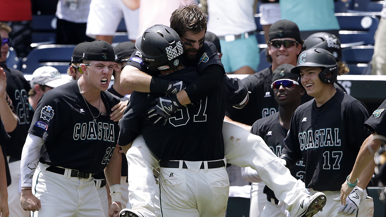 Coastal Carolina completed an unlikely run to the top of the college baseball world Thursday.