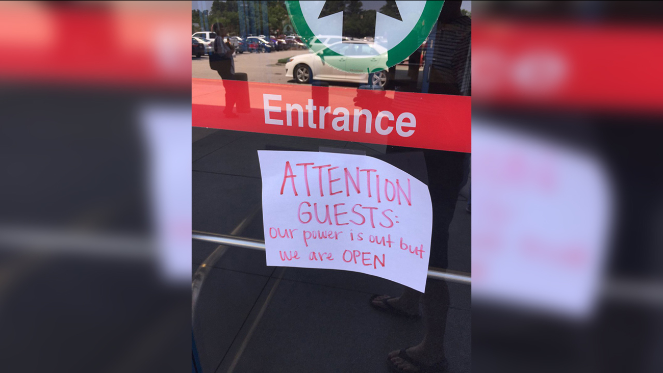 The sign outside Target